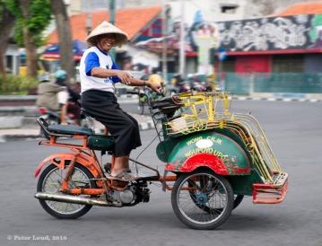 Becak met motor
