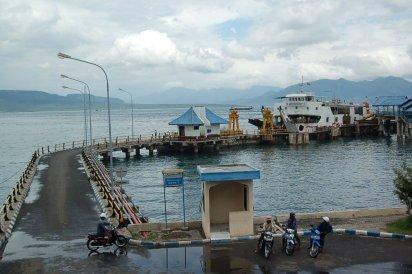 Vertrek naar de ferry