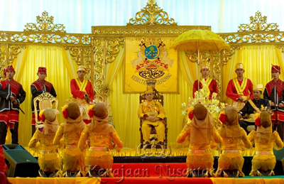 Sultan van Serdang (Sumatera).