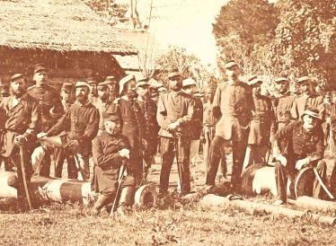 Begin van de Atjeh-oorlog: de generale staf van de tweede Atjeh-expeditie