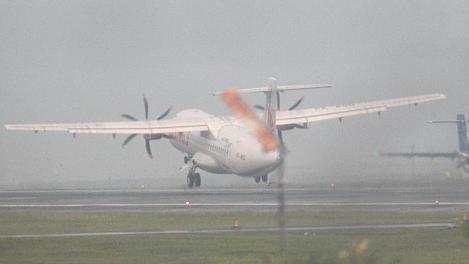 Vertrek van het vliegtuig naar Cilicap.