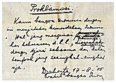 111 KladTeks Naskah Proklamasi Klad yang ditempatkan di Monumen Nasional (Monas).